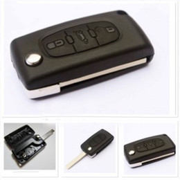 $enCountryForm.capitalKeyWord Australia - 3 Buttons Uncut Blade Flip Folding Remote Key Case Shell key protection cover Replacement for PEUGEOT 207 307 407 308 607 hot Free Shipping