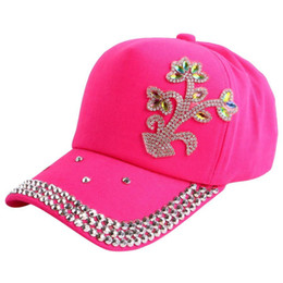$enCountryForm.capitalKeyWord UK - promotion Crystal Kids Baseball Caps Baby Hats & Caps Flower Children Snapback Summer Cotton Cap Baby Boys Girls Peaked Sun cap