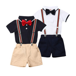$enCountryForm.capitalKeyWord UK - Gentleman Toddler Baby Boys Clothes Set Wedding Party Formal Suit Shirt+Suspender Shorts+Bow tie Infant Kids Children Costumes