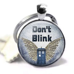 $enCountryForm.capitalKeyWord Australia - Dont Blink Weeping Angels Fashion Keychain Pendant Dr Who Tardis Jewelry Glass Dome Cabochon Key Chain Ring Accessories Gift