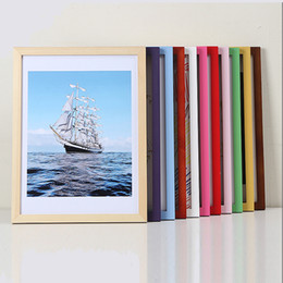 """Large solid wood wall frame,12 14 16 18 20 24 28 30 32"""",A4 A3,8K 4K,Available 2 cm in width and height, without cardboard or core"""
