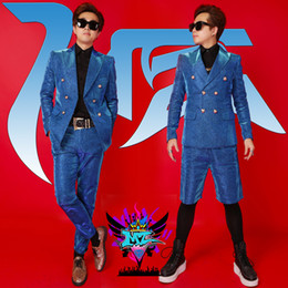 Bright Suits Australia - Bar dj male singer costume nightclub men's bright silk suit night show guest stage jacket coat tide