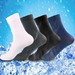 Wholesale mens long white socks online – funny Mens Solid Long Socks Pairs Stockings Thin Bamboo Fibre Male Socks Colors
