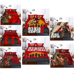 Bedsheet set Bedding online shopping - 3D Red Dead Redemption Design Bedding Set PC PC Duvet Cover Set Of Quilt Cover Pillowcase Twin Full Queen King Size AU US GB Covers