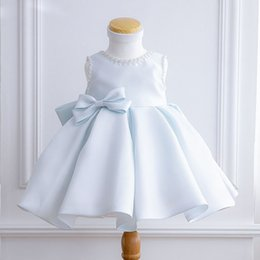 Discount 3t girl baptism dresses - Newborn Baby Girls Baptism Christmas Dresses Sequin Beads Lace 1 Year Birthday Dress Princess Christening Dress with Bow