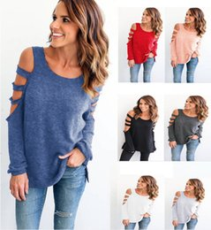$enCountryForm.capitalKeyWord Australia - New EU & American Style Women's Cotton Long Sleeve Hollow Out Wear Jumper New Casual Top For Autumn Winter