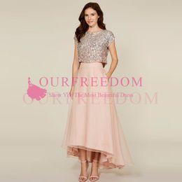 Bridesmaids skirts online shopping - New Blush Pink High Low Long Skirts Womens A Line Organza Maxi Skirt Custom Made Cheap Bridesmaid Skirt for Wedding Party