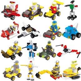 Spelling toyS online shopping - Children s building blocks car character model assembling building blocks plastic children s toys spelling toy model Kids toys