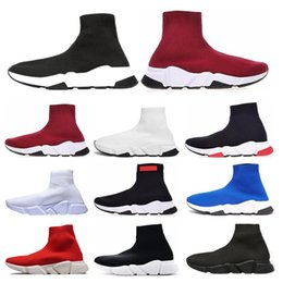 orange glitter shoes Australia - Fashion Speed Trainer men women Sock Shoes black white blue red glitter Flat Luxury casual shoes mens Trainers Runner sneakers size 36-45