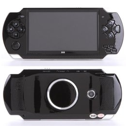 Wholesale PMP X6 Handheld Game Console Screen For PSP Game Store Classic Games TV Output Portable Video Game Player