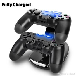 DUAL Neue Ankunft LED USB ChargeDock Docking Cradle Station Stand für drahtlose Playstation 4 PS4 Game-Controller-Ladegerät im Angebot