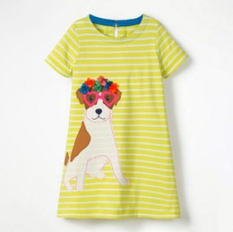 Discount summer costumes for dogs - Hot sale summer dresses for girls 2-7 years christmas costumes for kids animals dog baby girl clothes dresses baby cloth
