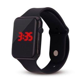 Men Digital Wrist Watches Australia - Unisex digital LED watch women men Children Silicone Band watches sport fitness watch Wrist man Wristwatches montre homme