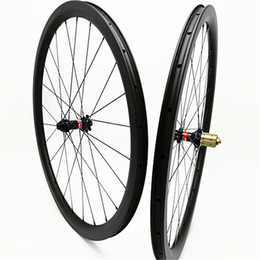 24 bicycle wheelset UK - 700c carbon road disc wheels clincher tubeless 38mm disc bicycle wheelset 100x15 142x12 Disc brake 1580g carbon wheels 3k UD