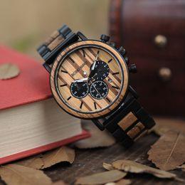$enCountryForm.capitalKeyWord Australia - Bobo Bird Unique Dial Stopwatch Bamboo Wooden Watches Men Wrist Watch With Date Create Clock Gift In Wood Box Saat Erkek Y19061905