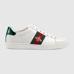 Venta al por mayor de Con la caja de las mujeres de alta calidad de los hombres diseñadores del cuero auténtico de los zapatos corrientes luxurys Zapatos de señora calzado deportivo hombre de formación libre del envío 35-45