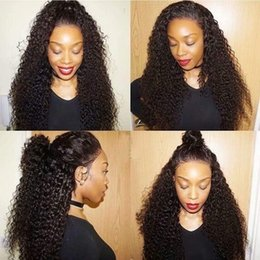 $enCountryForm.capitalKeyWord Australia - Deep Curly 360 Lace Frontal Wig Pre Plucked With Baby Hair Short Human Hair Wigs With Bangs Brazilian Bouncy Jerry Curl Remy 130