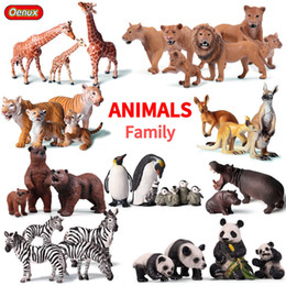 Farm Figures Australia - Oenux Original African Wild Lion Simulation Animals Tiger Elephants Action Figure Farm Animal Figurines Model Educational Toys C19041501