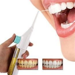 Venta al por mayor de Irrigador oral portátil Hilo de higiene dental Hilo dental de agua Limpieza con chorro de dientes Diente Boca Limpiador de dentaduras Irrigador del oral