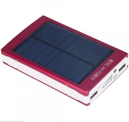 portable battery charger cell phones Australia - 10000mAh Dual USB Portable Solar Battery Charger Power Bank For Cell Phone Red