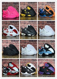 $enCountryForm.capitalKeyWord NZ - New Baby Kids 4 Basketball sport shoes Pure White Cement bred Fire Red Black Cat 4 For Girls Boys sneakers