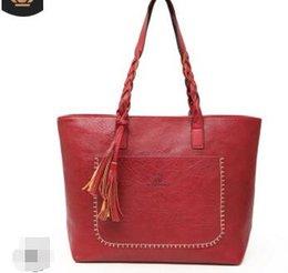 Big Ladies Handbags Australia - Big Top-handle Bags Women Tote Leather Handbag Ladies New Fashion Tassel Sac A Main Female Large Handbags Women Shoulder Bag II-953