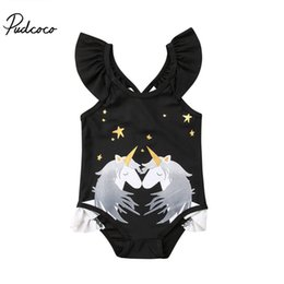Swimwear Infant Australia - Brand New Toddler Infant Child Kids Baby Girls Unicorn Bikini Set Swimwear Swimsuit Bathing Beachwear Unicorn One Piece Set