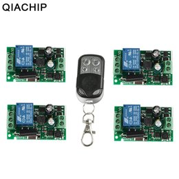wireless rf transmitter receiver remote Australia - QIACHIP 433Mhz Wireless Remote Control Switch AC 85V ~ 250V 110V 220V 1CH Relay Receiver Module + RF Transmitter For Garage Door