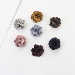 China 20 PCS 25mm Velvet Microfiber Cloth Flowers Connectors Charm Accessories DIY Sewing Materials For Jewelry Making cheap make flowers material suppliers