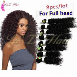 $enCountryForm.capitalKeyWord Australia - 8pcs lot unprocessed virgin afro kinky curly brazilian hair weave short Kinky Curly 100% Kanekalon Fiber Synthetic Hair Weave Bundles 1PC