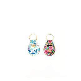 $enCountryForm.capitalKeyWord Australia - Random Color Send Neoprene Chapstick Holder Keychain Mini Coin Wrap Key Chain Holder Carry Case Printed Key Rings Keychains