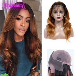 Ombre hair prOducts online shopping - Peruvian Virgin Hair Lace Front Wig B Lace Front Wig Body Wave Human Hair Products inch B Ombre Hair