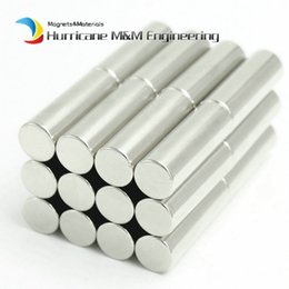Wholesale Neodymium Magnet Cylinder Australia - 24pcs Ndfeb Magnet Disc Diameter 10x30 Mm Axially Magnetized Strong Cylinder Magnet Neodymium Permanent Rare Earth Magnets