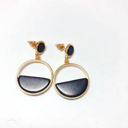 $enCountryForm.capitalKeyWord UK - Hot Handmade fashion simple geometric circular marble long earrings girls popular earrings earrings temperament