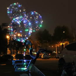 $enCountryForm.capitalKeyWord Australia - inch LED Balloons bobo ball transparent clear balloon 3M led String LED Flashing Lights wedding party birthday decoration helium ballon TOY
