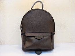 Ladies Leather Mini Backpack Australia - The highest quality ladies luxury fashion mini backpack 100% leather brand famous ladies fashion classic backpack free shipping