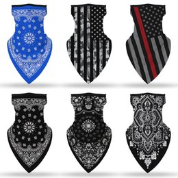 skull caps men Canada - QIepS mask PUNK Skull Cycling Bicycle Fishing Half face mask Multifunctional 3D magic scarf headband caps Rock for women Men