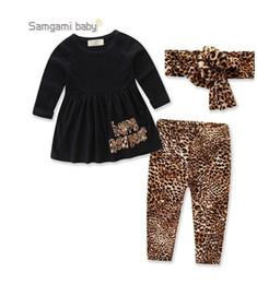 $enCountryForm.capitalKeyWord NZ - 2019 BABY Toddler Girl Clothing Set Long Sleeve cotton T-shirt+Leopard Print Pants+headband 3pcs Brand Kids Girls Clothes