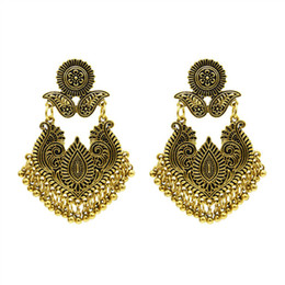 asian style tassels NZ - New Arrival Fashion Tassels Dangle Earrings Thai and Indian Style Vintage Stud Earrings Gold and Silver Color