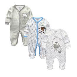 $enCountryForm.capitalKeyWord UK - 2019 Unisex 2 3pcs lot Baby Rompers 0-12m Pajamas Newborn Clothing Set Baby Girls Clothes Baby Boy Clothes O-neck Roupa De Bebe Y19061201