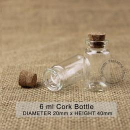 Cork sample bottle online shopping - Mini ml Glass Bottle Empty Cork Small Wishing Vial OZ Gift Pot Sample Jar Refillable Cosmetic Container