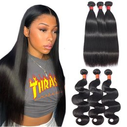 smooth soft hair UK - Wholesale Mink Brazilian Virgin Hair Straight Body Wave 3 Bundles Brazilian Remy Human Hair Extensions Can Be Colored Soft And Smooth