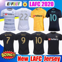 Soccer goalkeeper jerSeyS online shopping - New LAFC Carlos Vela Soccer Jerseys Home X ZELAYA ROSSI Los Angeles FC Black goalkeeper Yellow WHITE Football Shirts