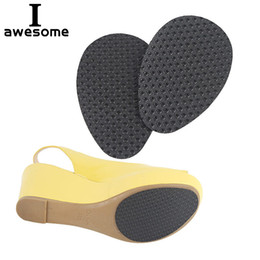 Shoe inSoleS Self adheSive online shopping - 1 Pair High Heel Sandals Shoes Sole Anti slip Frosted Self Adhesive Protective Stickers Forefoot Protector Pads Cushion Insole