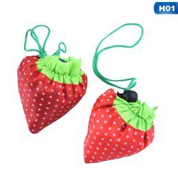 large gold handbags 2019 - Hot Sale Storage Handbag Strawberry Foldable Shopping Bags Reusable Folding Grocery Nylon Large Bag 12 Colors cheap larg