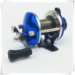 12 Gear Australia - Spinning Reels Fishing Gear Right Hand Drum Fishing Wire Winder With 0.2mm Line 50m High Quality Spinning Fishing Reel Fish Wheel