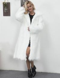 Plus Size Faux Fur Clothes Australia - Casual Winter Long Coat Women Thick Faux Fur Coat 2019 Fashion Long Sleeve Jacket Warm Loose Outerwear White Clothes Plus Size