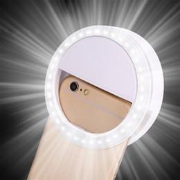 Venta al por mayor de Universal Selfie LED Ring Flash Light Teléfono móvil portátil 36 LEDS Selfie Lamp Luminous Ring Clip para 8 7 6 Plus