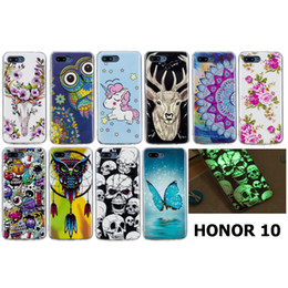 Butterfly White Rose Australia - For Huawei Honor 10 Transparent Soft TPU Case Cover Blue Butterfly Rose Flowers Animal Owl Dog Noctilucent in Darkness Night(Honor 10)