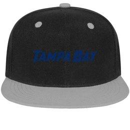 Cotton Bay Australia - Tampa Bay Lightning blue Unisex Men's Hats Womens Caps Adjustable Cotton Snapback Flatbrim Sports Hat Ball Caps for Women